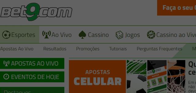 Bônus sem depósito de 8 reais com a Bet9